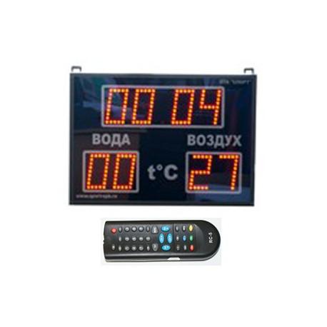 Часы-термометр - CT1.10-2td, 565х405х90 мм