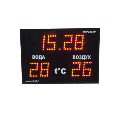 Часы-термометр - CT1.13-2t, 700х500х90 мм