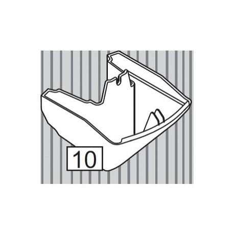 Накладка декоративная боковая верхней пластины-фиксатора (Эсприт-биг беж. - овал, круг)  /LC 10005