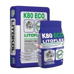 Беспылевой клей LITOFLEX K80 ECO (5 кг)